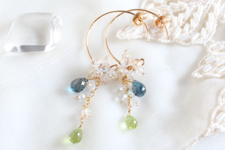 - London Blue Topaz Twinkle ピアス -